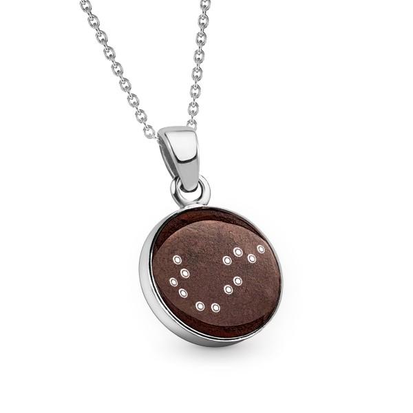 Stern Taler aus Meteoriten - Kette mit Sternzeichen 12 mm